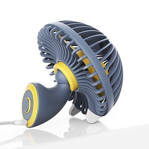 ibohr 卓上扇風機 静音 USB 扇風機 可愛らしいキノ...