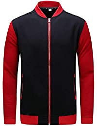 gawaga メンズカジュアルジャケットジップアップ軽量ボンバースポーツジャケットウインドブレーカー