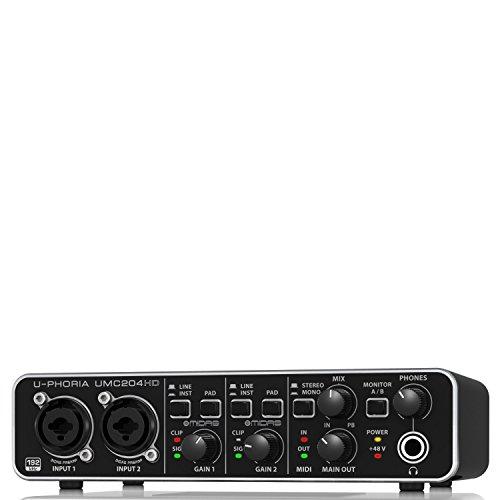 [해외] BEHRINGER UMC204HD 24-Bit/192kHzUSB오디오 인터페이스 (베린가)-UMC204HD