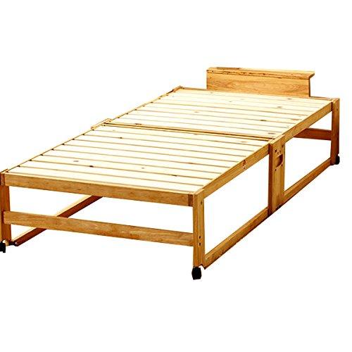 すのこにひのきを使った 木製折りたたみベッド シングルベッド
