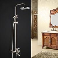 GX 浴室用水栓 真鍮線描画シャワーリフトシャワーセット銅ホットとコールドシャワーの蛇口の浴室シャワーシャワー蛇口