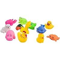 Dovewill 約12個入り  おもちゃ  動物形 マルチカラー 子供 ベビー 風呂  バス 遊び プレゼント