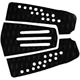 MagiDeal 3 Pieces / Set Ultralight Black Diamond Grooved EVA Unisex Surfboard Surf SUP Traction Tail Pads Deck Grip Mat - Anti Slip & Self Adhesive