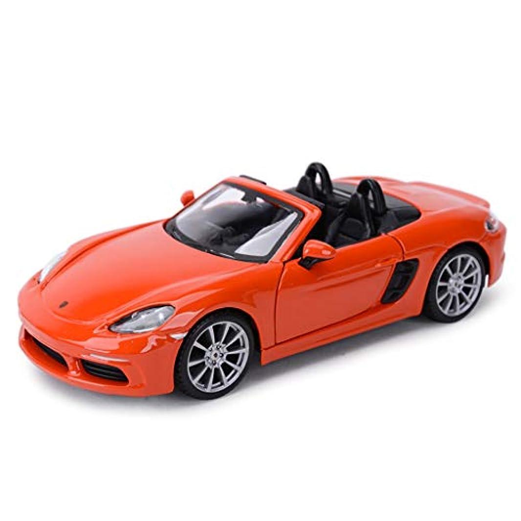 小切手忠誠ゴルフHyzbアロイカーモデル玩具 - 1:24スケール718ボクスターシミュレーションダイカスト合金スタティックトイモデルカーキッズ玩具車(カラー:オレンジ)