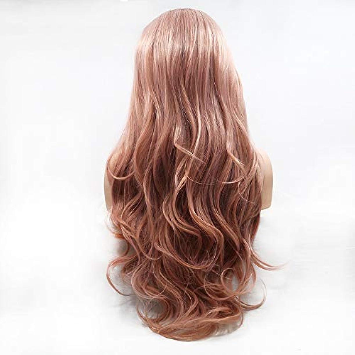 わな伝記団結ヘアピース 赤く長い毛の巻き毛の女性ハンドメイドのレースのヨーロッパおよびアメリカの自然な毛のかつらセット