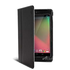Acase Nexus7 ケース PU レザーケース for Google Nexus 7 ブラック ( スタンド 機能付 )