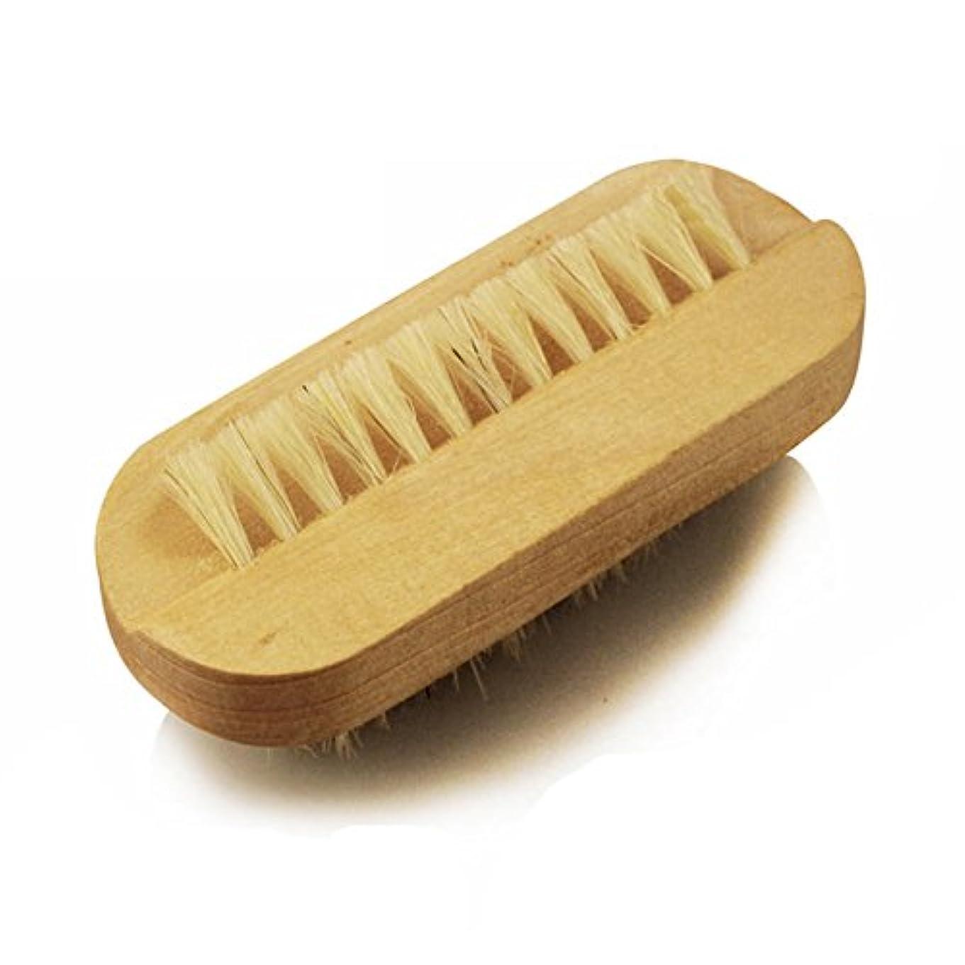 ブロック知覚する解釈するHrph ネイルブラシ 爪ブラシ 木柄 豚毛