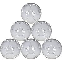 すべてのホワイトSoccer Balls 6パックの再生のAutographsペイントやfor Soccer