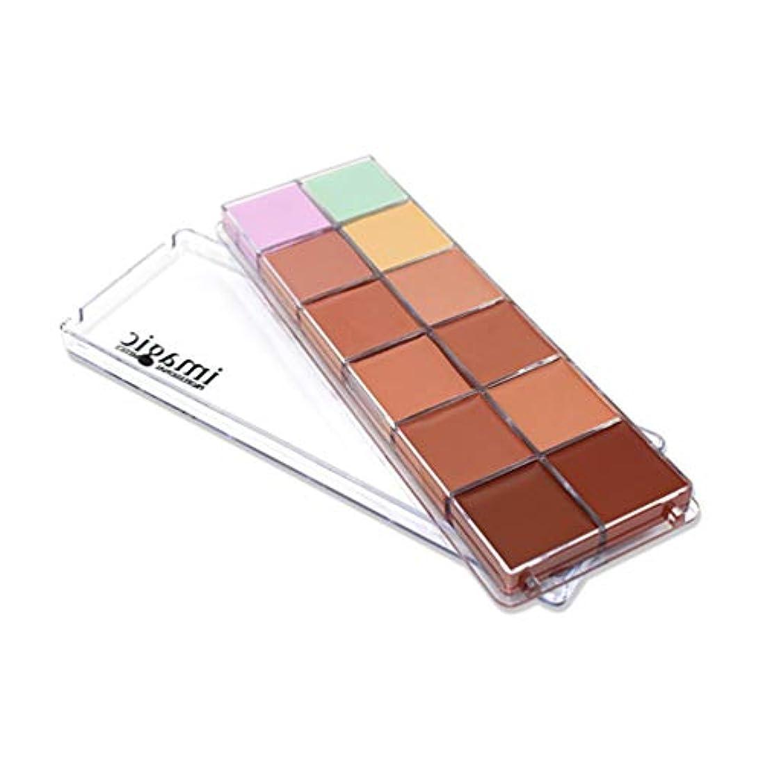 期限作成する遷移Lurrose 12色の化粧品コンシーラーパレットクリーム輪郭強調メイクアップファンデーション