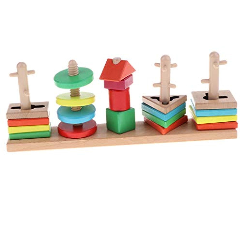 F Fityle 赤ちゃん 幼児 はめこみ 形合わせ 型はめ 立体パズル 木製おもちゃ 教育玩具