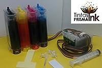 Prisma T252 Sistema Continuo con Tinta Dye CISS Cis para USO en Impresoras Epson WF-3620 3630 3640 7110 7610 7620 252 T2521