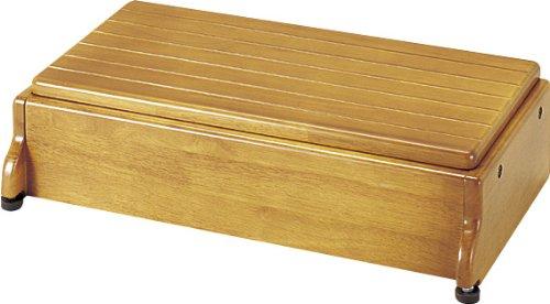 アロン化成 安寿 木製玄関台 S60W-30-1段 ライトブラウン