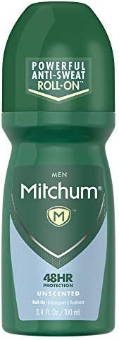 Mitchum Antiperspirant Deodorant Roll On for Men, 48 Hr Protection, Dermatologist Tested, Unscented, 3.4 oz
