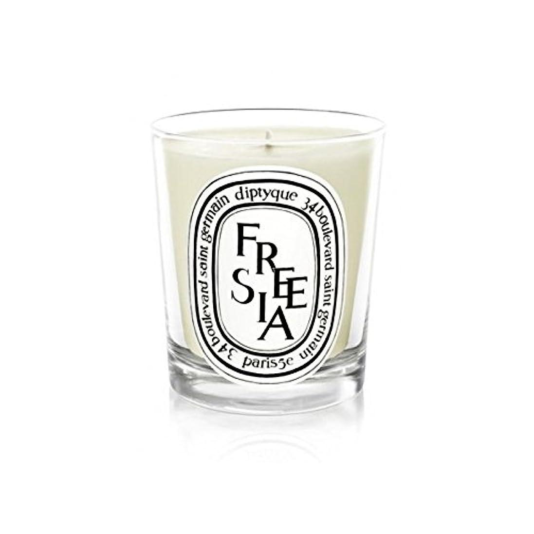 細断ロッカー展示会Diptyque Candle Freesia / Freesia 190g (Pack of 2) - Diptyqueキャンドルフリージア/フリージアの190グラム (x2) [並行輸入品]