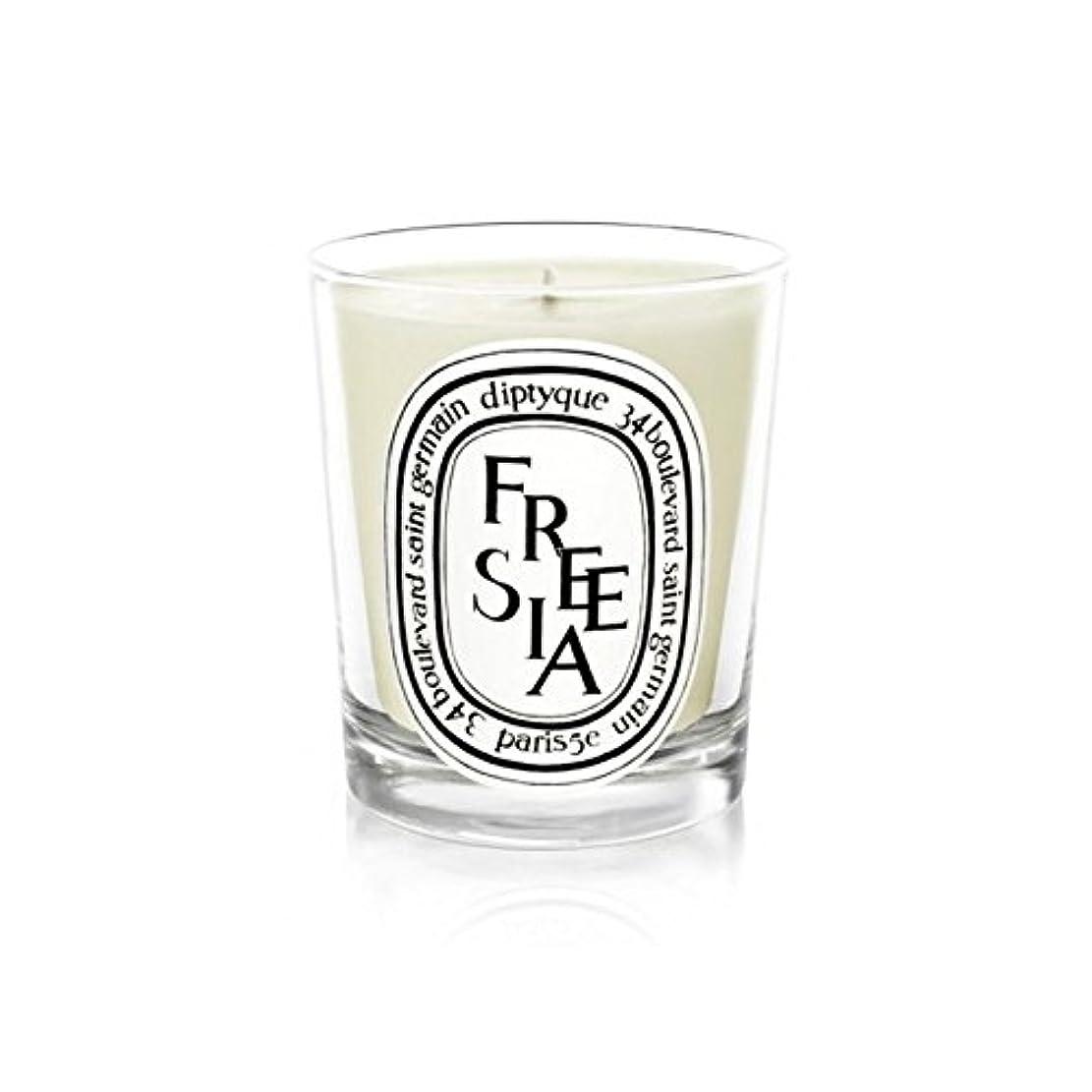 資金シンク加害者Diptyqueキャンドルフリージア/フリージアの190グラム - Diptyque Candle Freesia / Freesia 190g (Diptyque) [並行輸入品]