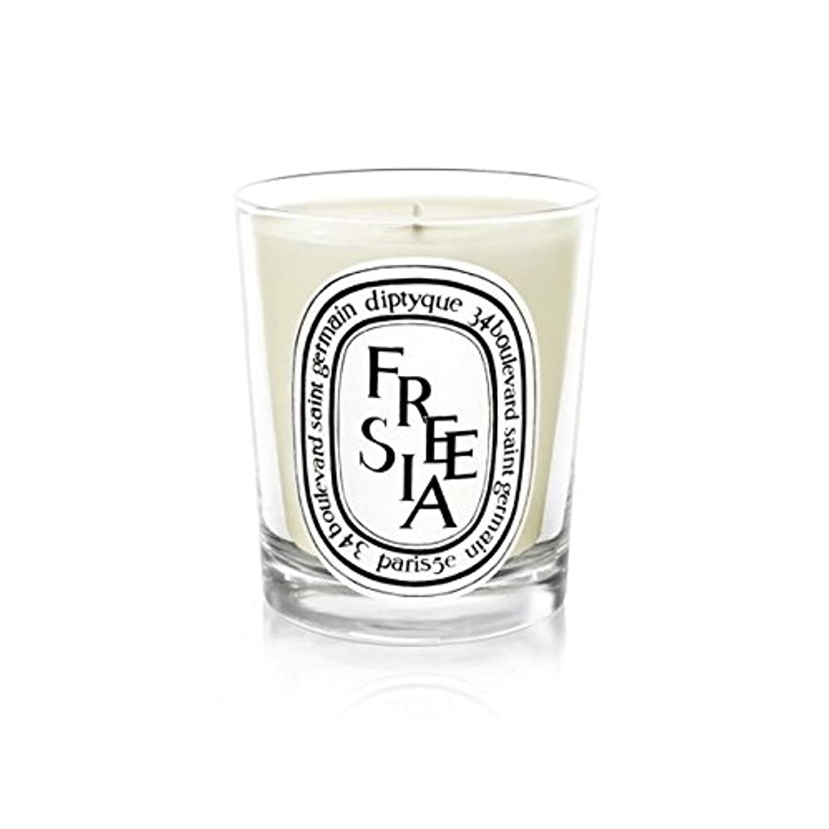 排泄する引退するあごDiptyque Candle Freesia / Freesia 190g (Pack of 2) - Diptyqueキャンドルフリージア/フリージアの190グラム (x2) [並行輸入品]