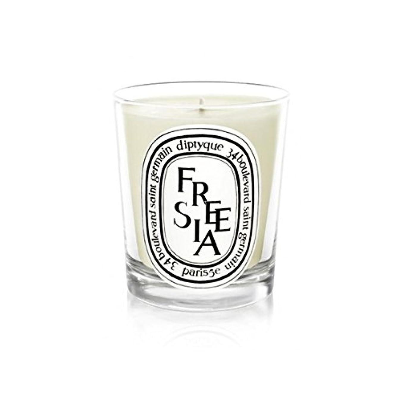 異なるリットル世論調査Diptyque Candle Freesia / Freesia 190g (Pack of 2) - Diptyqueキャンドルフリージア/フリージアの190グラム (x2) [並行輸入品]