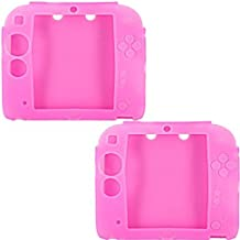 Uherebuy 2Packs (Pink) Protective Soft Silicone Rubber Gel Skin Case Cover for Nintendo 2DS (3-6 business days will be deliver) by Uherebuy [並行輸入品]