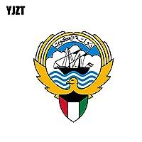 YJZT 11.2CM * 12.8CMおかしいクウェート腕カーボディデカール6から2086の旗の盾車のステッカーコート