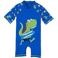 HONISEN Boys One Piece Rash Guard Swimsuits Kids Long Sleeve Sunsuit Swimwear UPF 50+