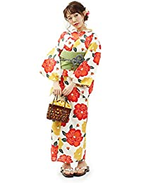 (オオキニ)大喜賑 浴衣セット 24種から選べる レトロ 浴衣 レディース 帯 下駄 3点セット