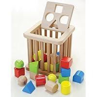 木製おもちゃのだいわ 積木 バスケット