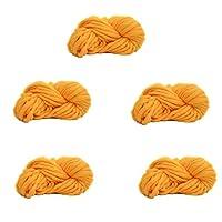 5かせ糸編み超ソフトかさばるのは、DIY の製織のための分厚い放浪,Yellow