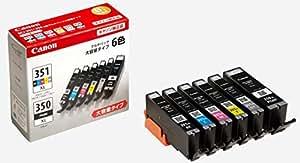 Canon インク カートリッジ 純正 BCI-351XL(BK/C/M/Y/GY)+BCI-350XL 6色マルチパック 大容量タイプ BCI-351XL+350XL/6MP