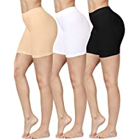 SIMIYA Slip Shorts, 3 Pack Women's Comfortable Seamless Smooth Panties Slip Shorts for Under Dresses