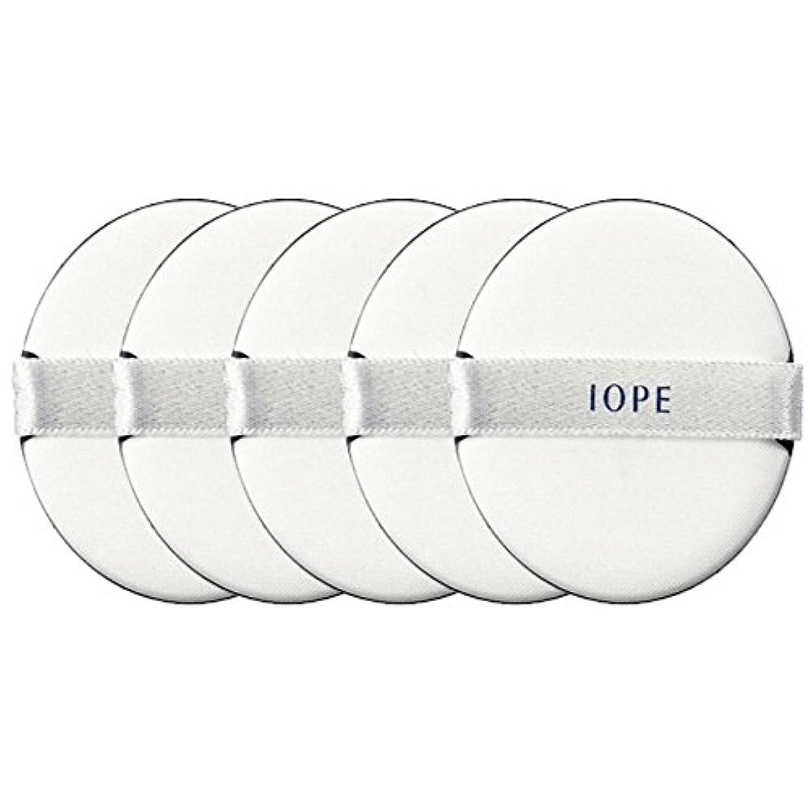 ロッジ大洪水ランク[IOPE] パフ / アイオペエアークッションサンブロック専用のパフ5枚セット [並行輸入品]