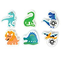 Kudo Banz–ステッカーChart for Your手首–を教えている子供の責任と正動作 Pack of 6 Dino Collection Kudo Charms