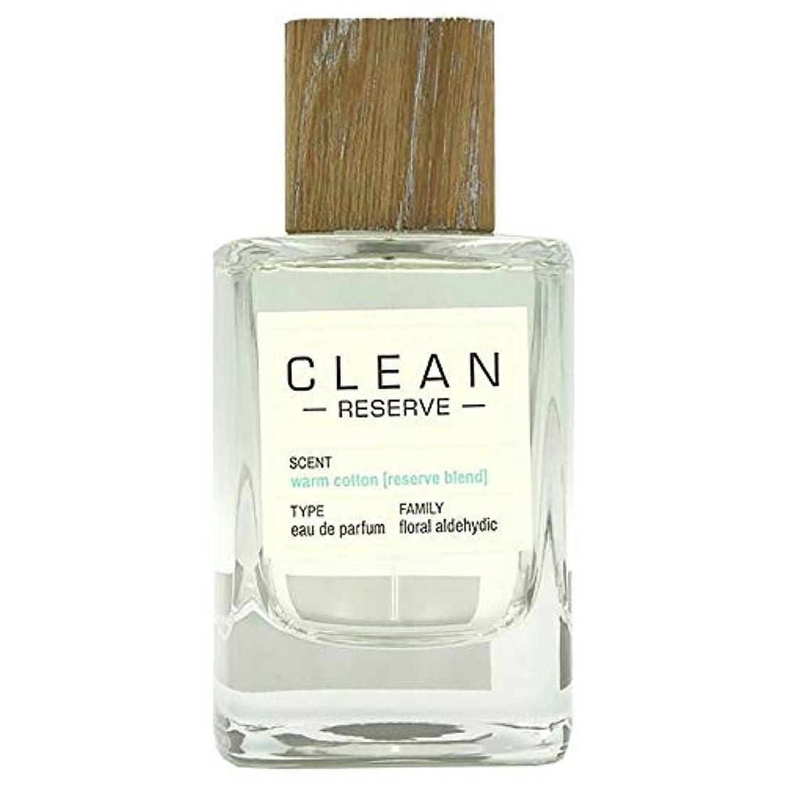 かけがえのないまだらおいしいクリーン CLEAN リザーブ ウォームコットン (テスター)EDP SP 100ml [並行輸入品]