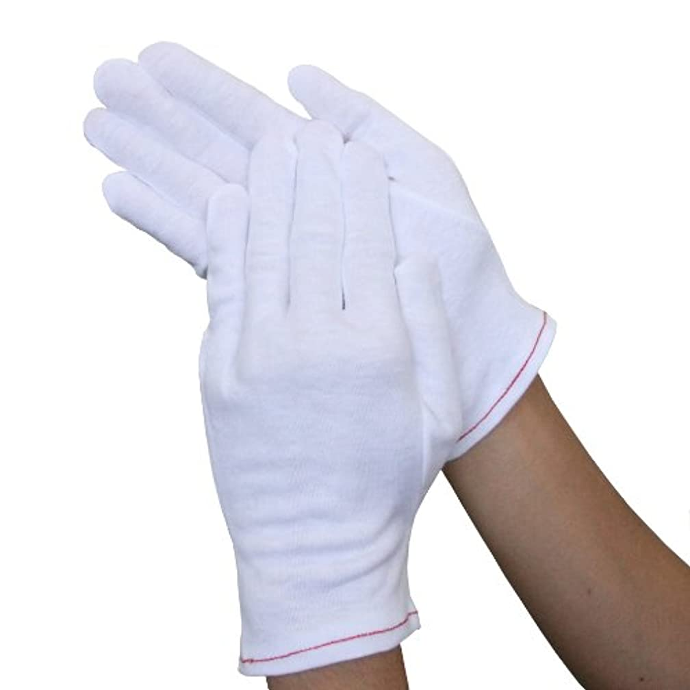 失態信頼できる通訳ウインセス 【心地よい肌触り/おやすみ手袋】 綿100%手袋 (2双) (M)