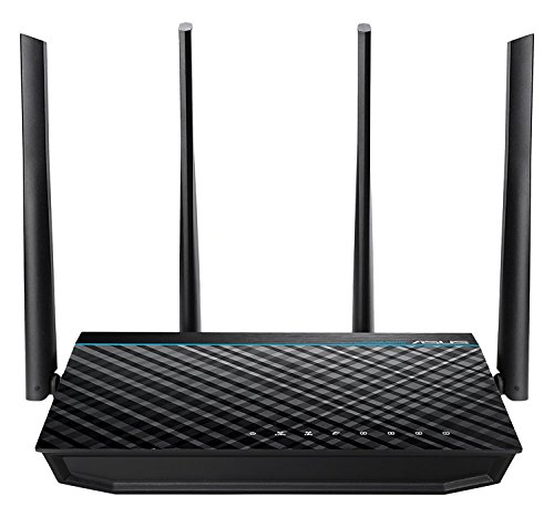 High Quality RT-ACRH17 Concurrent Dual Band AC1700 Wi-Fi Wireless Router with Gigabit LAN Ports, USB 3.0 and AiRadar Beamforming Technology