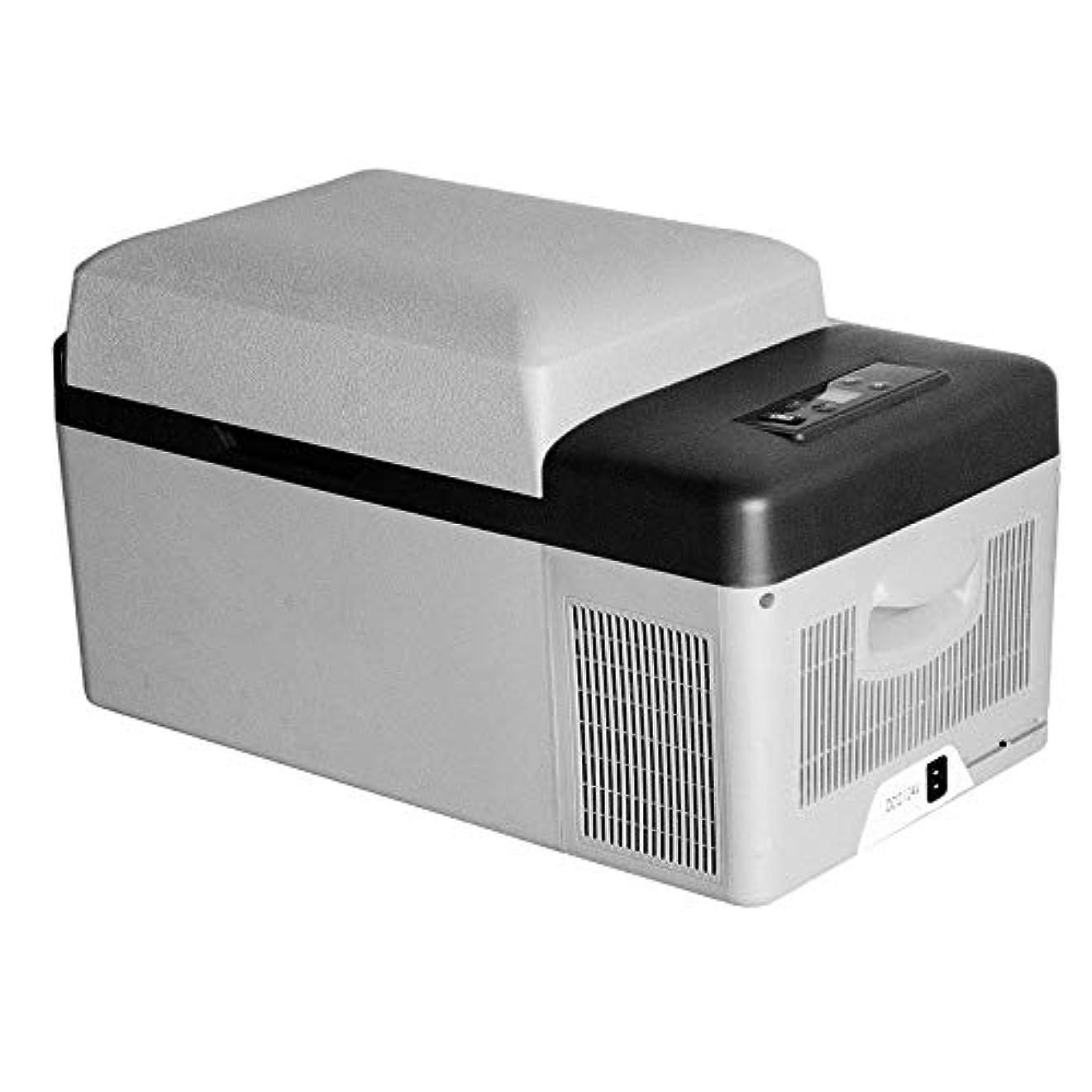 ルビー嘆願晩ごはん車の冷蔵庫 20Lの車のミニ冷蔵庫ACまたはDCクーラー旅行ピクニック冷蔵庫用食品ドリンクワイン キャンプバーベキュー用 (Color : White, Size : 57X32X32CM)
