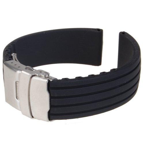[해외]시계 밴드 교체 벨트 실리콘 고무 시계 스트랩 방수 24mm/Watchband exchange belt Silicone rubber wrist watch strap waterproof 24mm