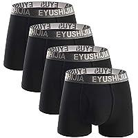 EYUSHIJIA Men's 4 Pack Comfortable Bamboo Fiber Boxer Briefs