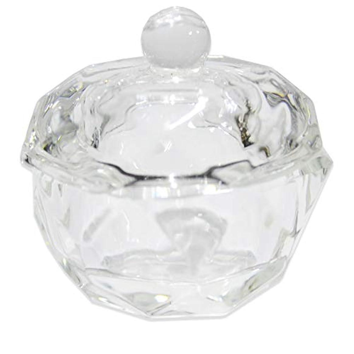 手伝う逸話に同意するクリスタル オクタゴン ダッペンディッシュ/ガラスの蓋付き/八角形