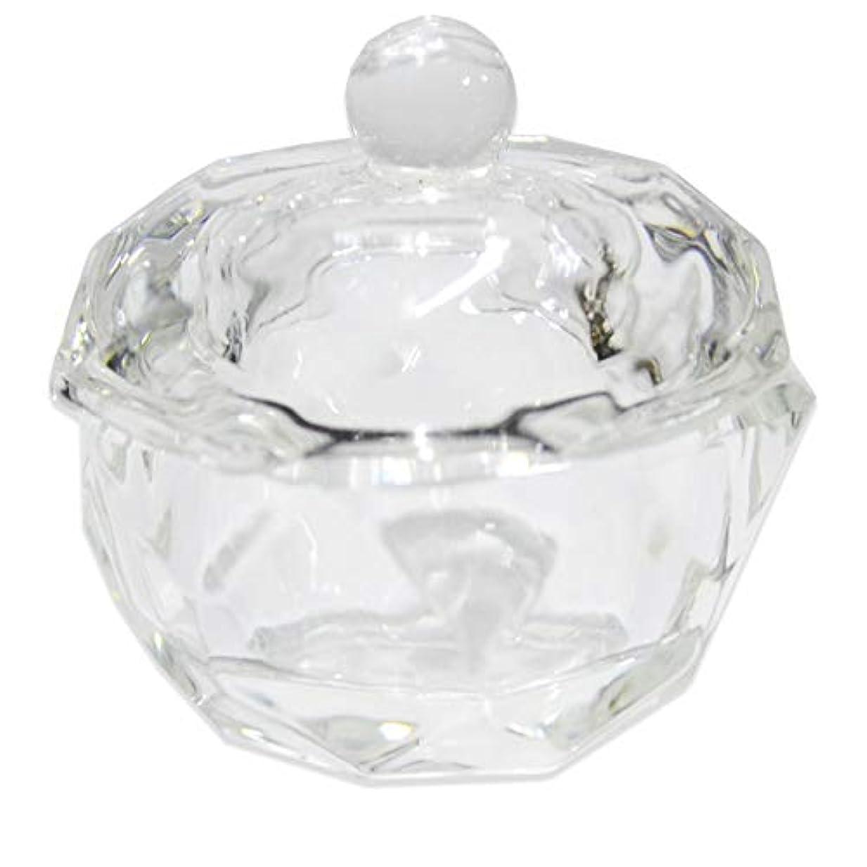 ネックレット同等のベッドを作るクリスタル オクタゴン ダッペンディッシュ/ガラスの蓋付き/八角形