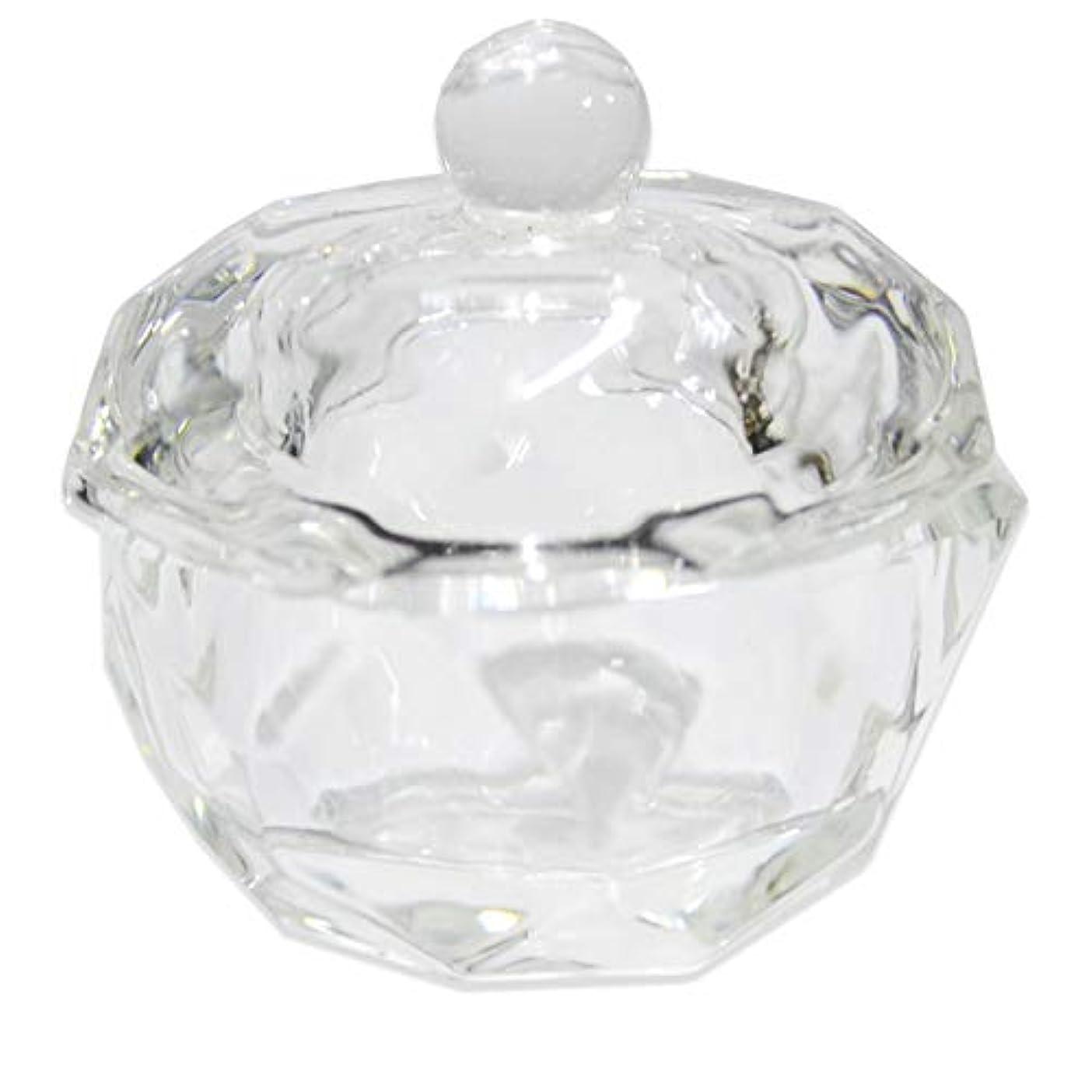 ふさわしい識別する解き明かすクリスタル オクタゴン ダッペンディッシュ/ガラスの蓋付き/八角形