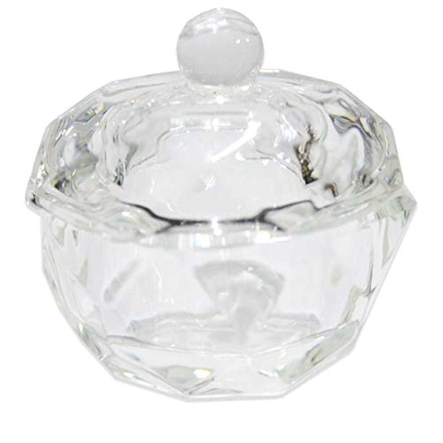 右クリア大胆クリスタル オクタゴン ダッペンディッシュ/ガラスの蓋付き/八角形