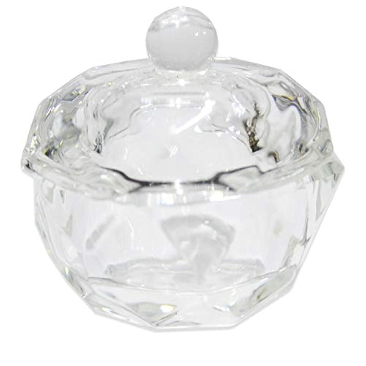 公爵夫人病気だと思う犯すクリスタル オクタゴン ダッペンディッシュ/ガラスの蓋付き/八角形