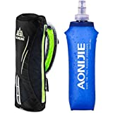 AONIJIE Handheld Hydration Pack Kettle Bag Handbag with 500ml TPU Collapsible Water Bottle