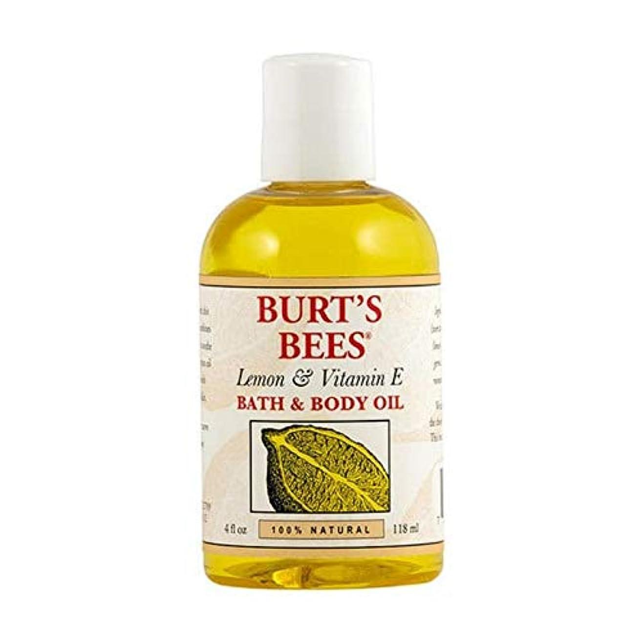 機関車インゲン風刺[Burt's Bees ] バーツビーレモンとビタミンE体とバスオイル115ミリリットル - Burt's Bees Lemon and Vitamin E Body and Bath Oil 115ml [並行輸入品]