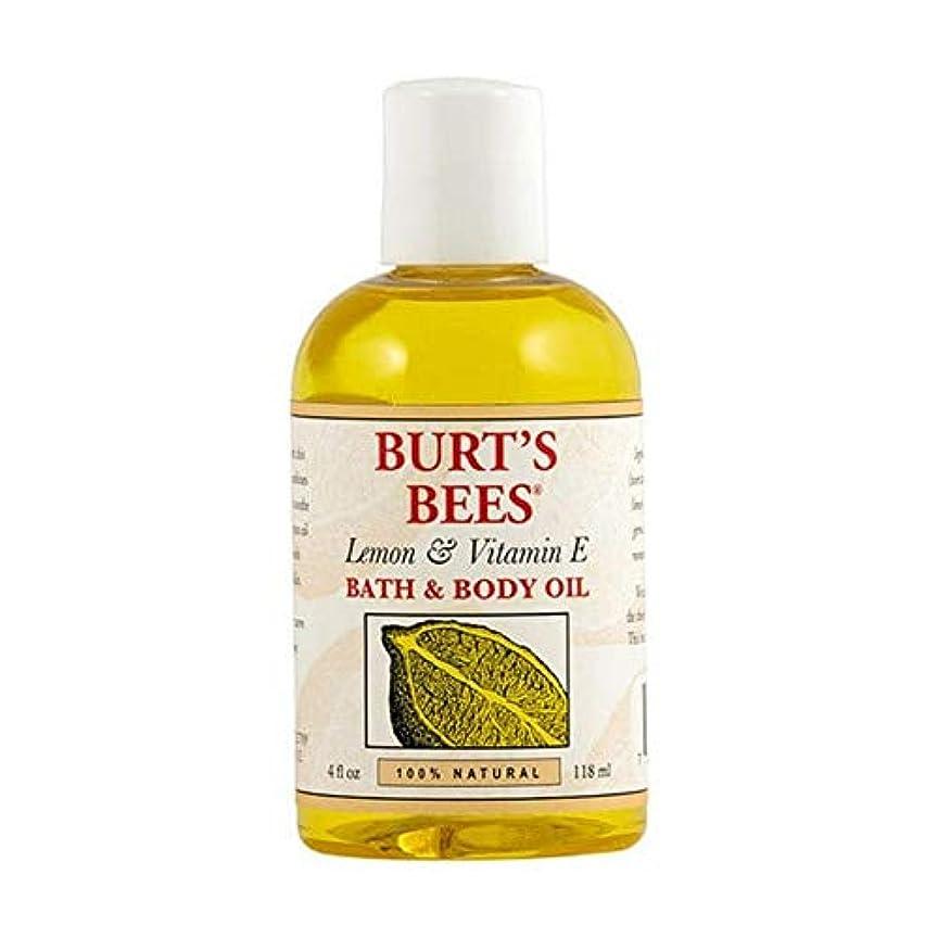 大きさほかに一時的[Burt's Bees ] バーツビーレモンとビタミンE体とバスオイル115ミリリットル - Burt's Bees Lemon and Vitamin E Body and Bath Oil 115ml [並行輸入品]