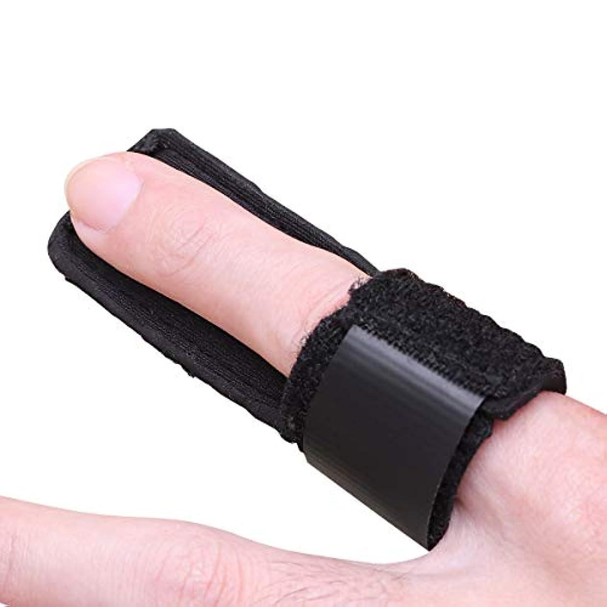 ピンクバン領事館Healifty 子供のための指のサポートブレースフィンガースプリント骨折ジョイントスプリントプロテクター(ブラック)