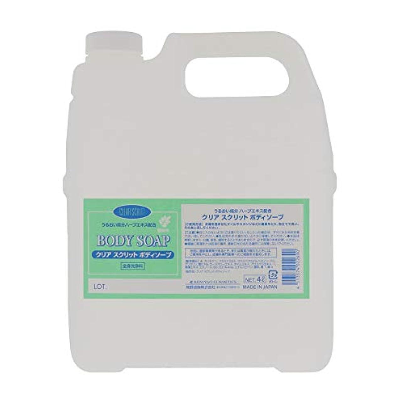 平凡ワイヤー追放する熊野油脂 業務用 クリアスクリット ボディソープ 4L
