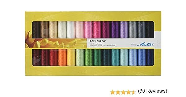 White 500m//547 yd Mettler 9145-2000 Poly Thread