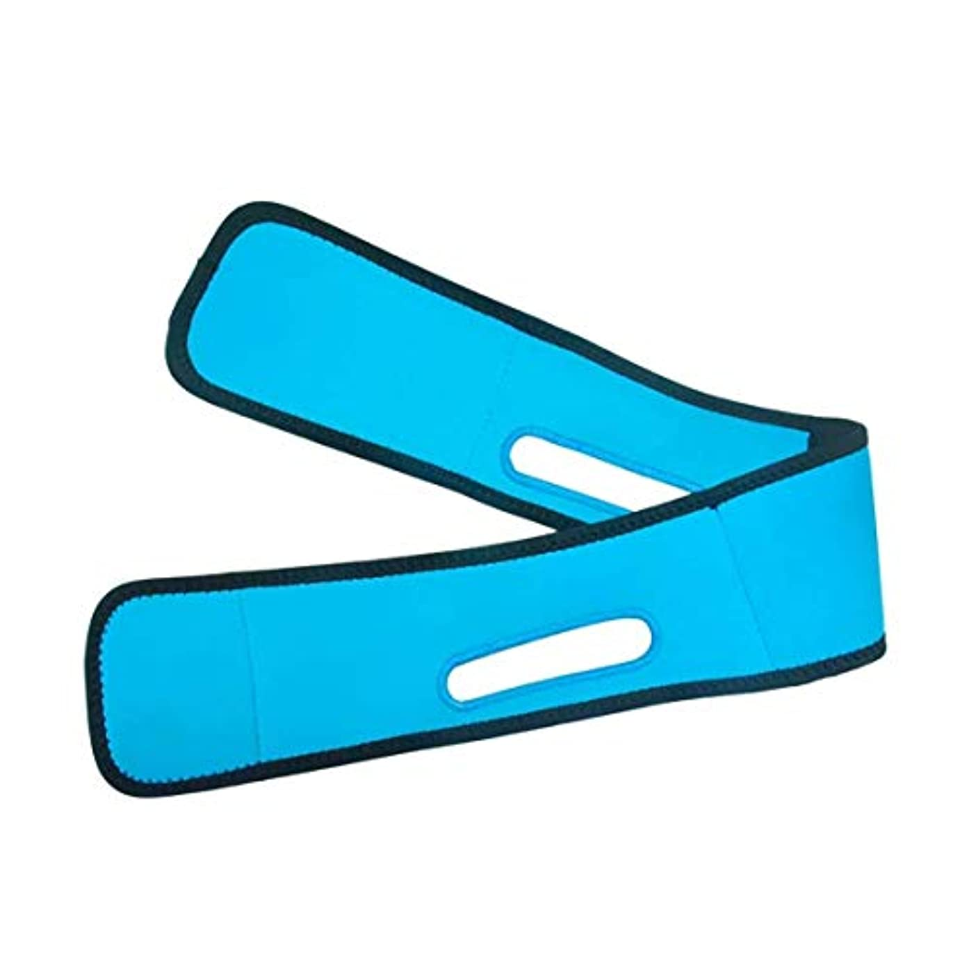妨げる困惑するマーカースリミングベルト、フェイスマスクVフェイスアーティファクトマッサージマスクで顎の筋肉の収縮を強化し、Vフェイスリフトのタイトな包帯を簡単に形成