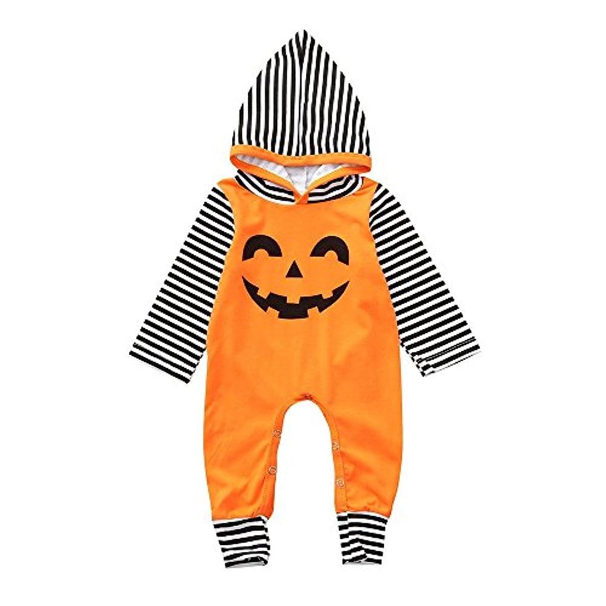 スカイリフト偉業BHKK 子供 幼児少年少女ロングスリーブフード付きロンパージャンプススイートハロウィーンデコレーション服装 6ヶ月 - 24ヶ月 6ヶ月